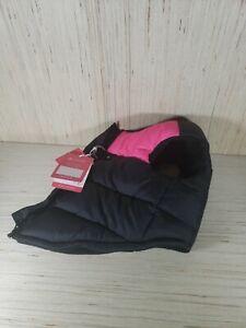 Gooby Padded Dog Vest - Zip Up Dog Jacket Coat with D Ring Leash - Large size.