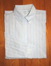 BROOKS BROTHERS - SLIM FIT - NON-IRON STRETCH - LONG SLEEVE SHIRT - MEN'S: XL
