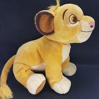 "Disney Parks Baby Simba Cub The Lion King Plush Cat Sewn Eyes 24"" Long Large"