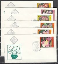 Bulgaria, Scott cat. 3140-3145. Orchids issue. First day covers.