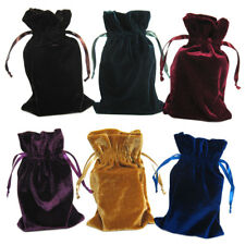 "Velvet Tarot Bag 6x9"" Drawstring Pouch for Cards, Runes, or Dice - Choose Color!"