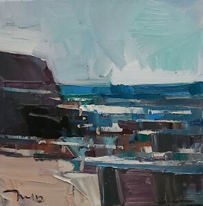 JOSE TRUJILLO Oil Painting IMPRESSIONISM SEASCAPE SEA OCEAN MODERN ORIGINAL