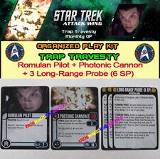 STAR TREK ATTACK WING: TRAP TRAVESTY OP KIT-Romulan Pilot, Photonic Cannon, 3LRP