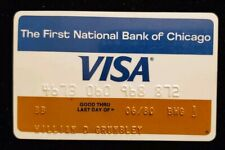 The First National Bank of Chicago Visa exp 80 ♡Free Shipping♡cc142☆