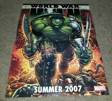 Marvel Comics World War Hulk 5 1st App Key Poster 07 Thor Movie Coming soon 17