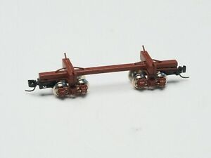 Z-scale Old Era Lumber car made in Brass, with Micro Train couplers