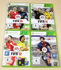 4 Xbox 360 jeux collection FIFA 10 11 12 13-Football Soccer Football (14 15)
