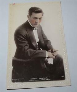 SESSUE HAYAKAWA ACTOR REAL PHOTO POSTCARD c 1910 FAMOUS CINEMA STAR     821