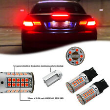 2pcs No Hyper Flash 7440 T20 Red LED Front Rear Turn Signal Lights Upgrade Bulbs
