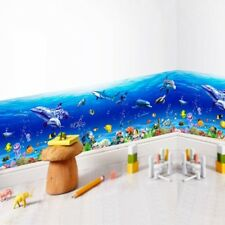 Underwater Blue Ocean Dolphin Fish Sea Wall Art Sticker Bathroom Home Decor