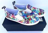 LOVE MOSCHINO Multicoloured Floral Patterned Slip On Sneakers - size UK 5 - New