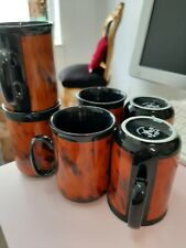 6 Stück Rösler Germany for ARAMIS Tassen Porzellan coffee mugs Kaffeebecher