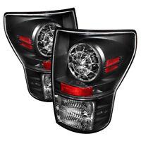 Toyota 07-13 Tundra Black LED Rear Tail Lights Brake Lamp Set Base Limited SR5