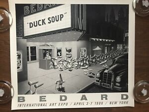 "MICHAEL BEDARD ""Duck Soup"" GALLERY POSTER LITHOGRAPH New York 1986"
