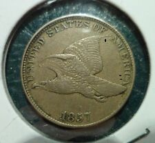 1857 FLYING EAGLE CENT - XF - SNOW-3 S3 - VERY SCARCE VARIETY - HIGH GRADE