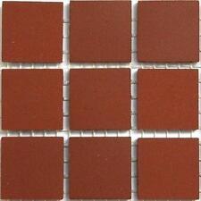 20mm Ceramic Unglazed Porcelain Mosaic Tiles. Rouge 49 Tile Pack