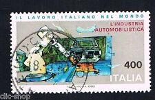 ITALIA 1 FRANCOBOLLO LAVORO ITALIANO L'INDUSTRIA AUTOMOBILISTICA 1983 usato