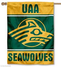 "UNIVERSITY ALASKA ANCHORAGE SEAWOLVES VERTICAL FLAG 27""x37"" INDOOR OUTDOOR NEW"