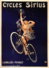 Cycles Sirius Vintage French Nouveau Bicycle Poster Print Art Advertisement