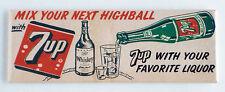 7-Up Highball FRIDGE MAGNET (1.5 x 4.5 inches) soda sign cola whiskey bottle