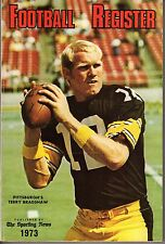 1973 Sporting News Football Register magazine,Terry Bradshaw,Pittsburgh Steelers