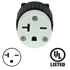 Replacement 20Amp 250V Female Twist-Lock Cord 3-Wire Electrical Plug Nema L6-20C