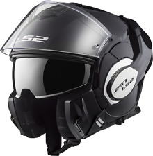 Ls2 casco moto abatible Ff399 Valiant mono Gloss negro m