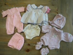Vintage Cabbage Patch Doll Clothes Lot 8 Pieces Booties Hat Outfits