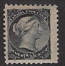 "Canada Small Queen ½¢ black, Sc #34, VF, ""MNH"", CV $75.00, (Jumbo Margin R side)"