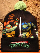 Nickelodeon bioworld TEENAGE MUTANT NINJA TURTLES Toque Winter Hat Cuffed POM