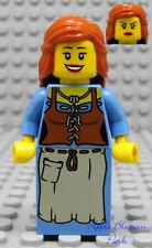NEW Lego Kingdoms Female PEASANT MINIFIG - Castle Milkmaid Minifigure Girl 7189