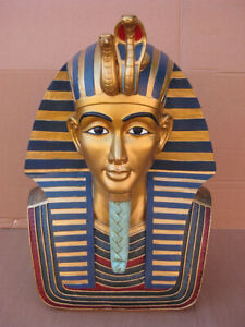 Totenmaske Ägypten Pharao Tut Ench Amun,49 cm ! !,Polyresin Modell,Hammer !!!