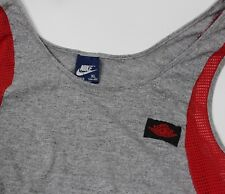Vintage Nike Air Jordan Tank Top Shirt 1990's Mesh Grey Future Bike Gym Wear