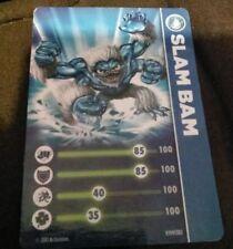 Slam Bam Skylanders Spyro's Adventures Stat Card Only!
