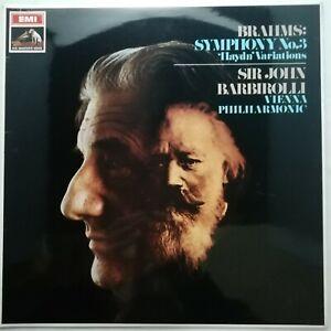 Brahms: Symphony No. 3 etc. / Barbirolli / VPO / EMI LP ASD 2432 DOG-IN-STAMP