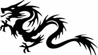Dragon Decal Window Bumper Sticker Car Decor Monsters Dragons Free US Shipping