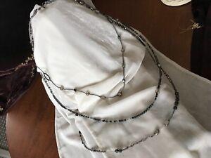 Silpada necklace, N 2097 Dew Drops Sterling silver, hematite,, onyx 3 strands