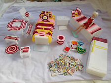 Completed Plastic Canvas Fashion Doll Barbie Furniture