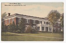 Carte Postale Main Office Laurentide Co. GRAND-MÈRE Quebec Canada 1920s Postcard