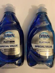 Dawn Ultra Platinum Dishwashing Liquid Dish Soap (2 BOTTLES - 7 FL OZ EACH)