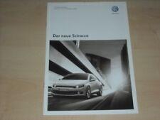 49253) VW Scirocco Preise & Extras Prospekt 10/2008