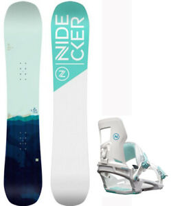 2022 Nidecker Elle 143 cm Women's All Mountain Snowboard+Matching Bindings