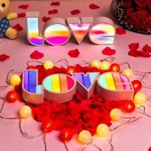LOVE LED Night Light Kids Bedroom Home Decor Table Lamp Ornaments Fairy Lights