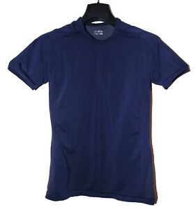 DHB Short Sleeve Seamless Base Layer - Men's Large in dark Blue - With Polygiene