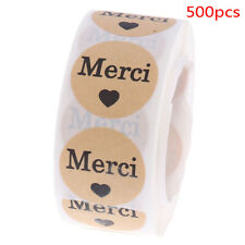 """500pcs/roll Stickers French""""Merci""""seal labels scrapbooking for Package sticYCL"""