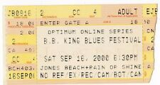 Ticket Stub B. B. King Blues Festival Sept. 16 2000 Original