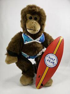 """Build A Bear Workshop Surf Club 16"""" Surfing Monkey Plush Stuffed Animal Toy"""