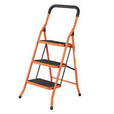 3 Step Ladder Fold Step Stool With Handgrip Portable Lightweight Ladders With