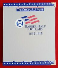 OFFICIAL US MINT COIN ALBUM FOR BARBER HALF DOLLARS - NEW
