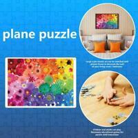 1000 Piece Rainbow Flowers Jigsaw Puzzles Adults Learning Jigsaw Education L3Q2